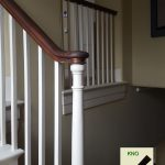 opening cap square spindles turned newel.