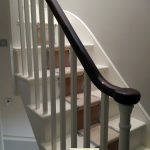 opening cap turned newel square spindles.
