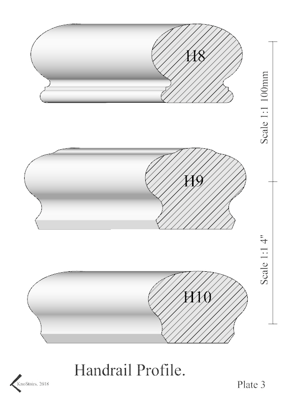Handrail Profile plate 3 H8 - H10 Book style.