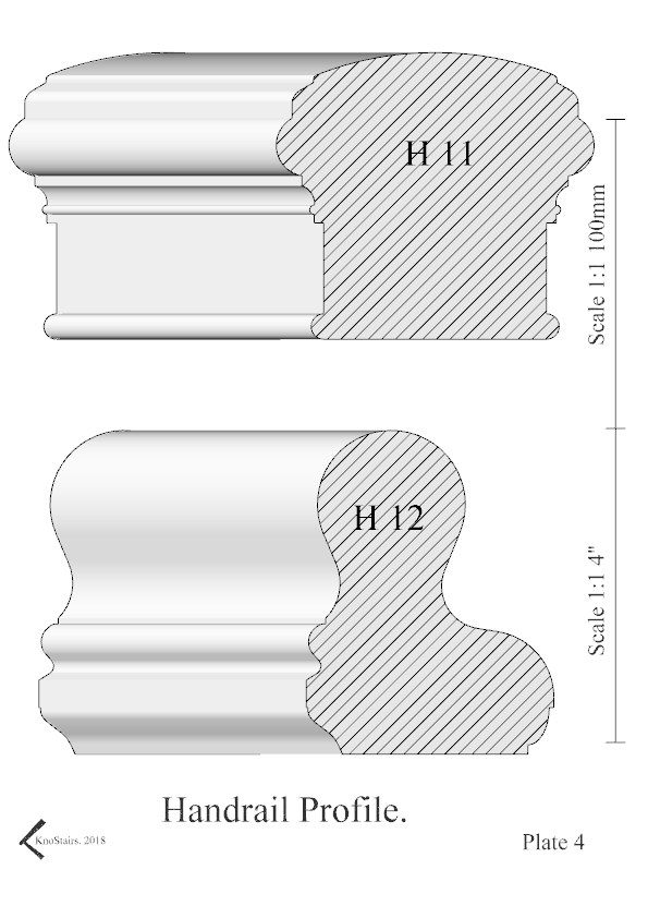 Handrail Profile plate 4 H11 - H12 Book style.