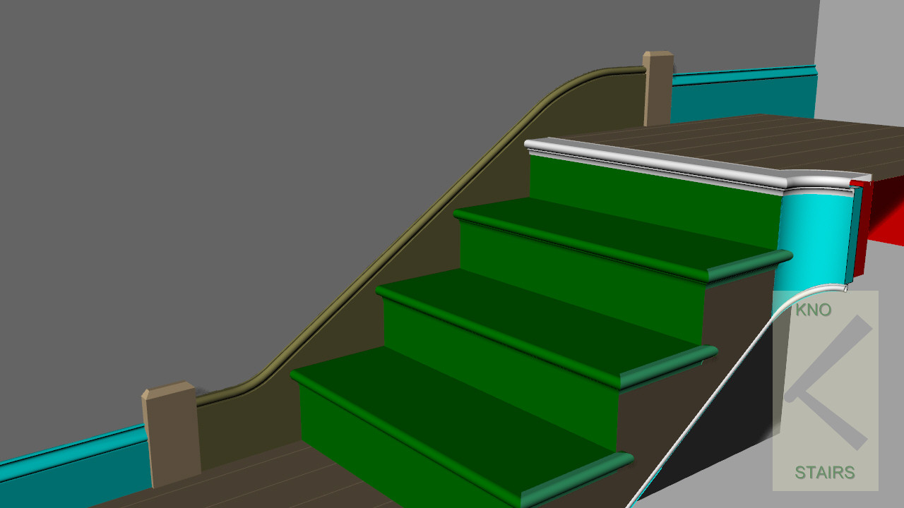 Stringer skirting transition Plinth blocks.
