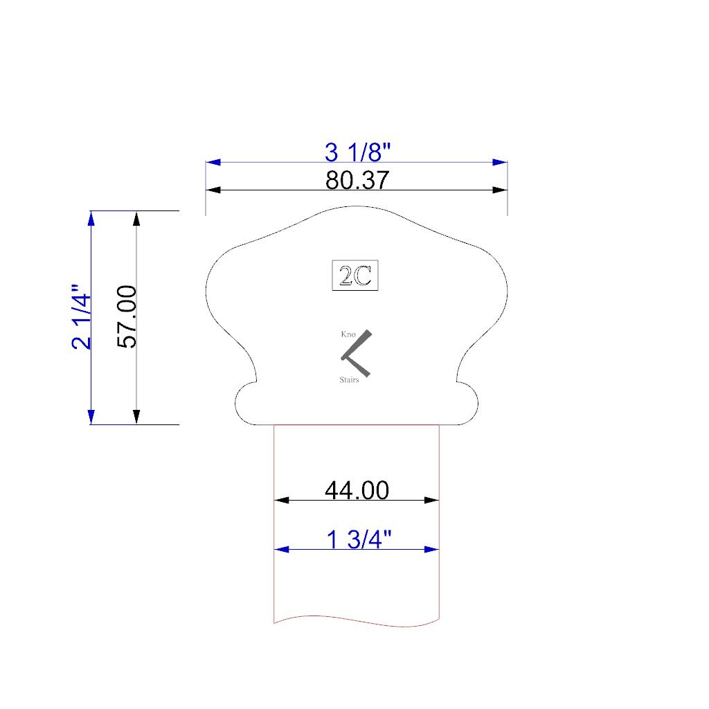 Handrail profile 2C outline