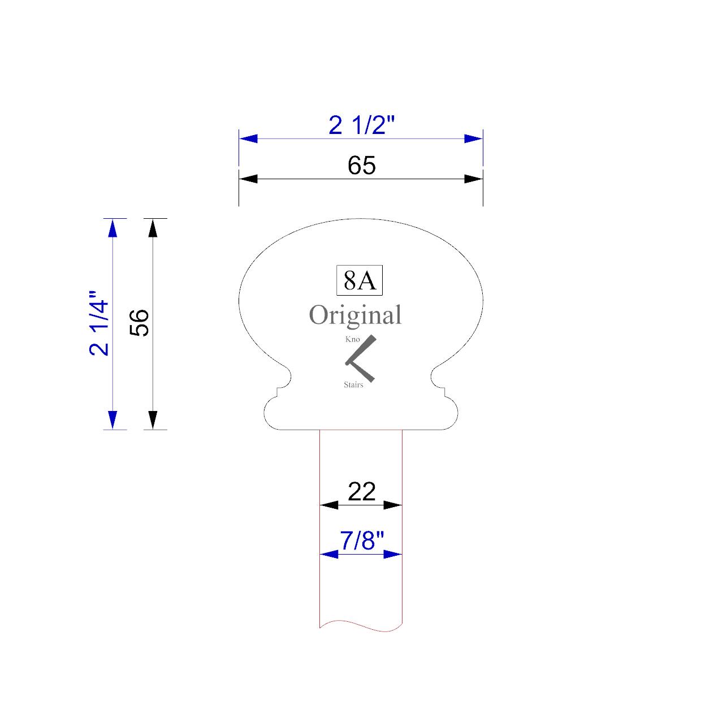 handrail profile 8A 22