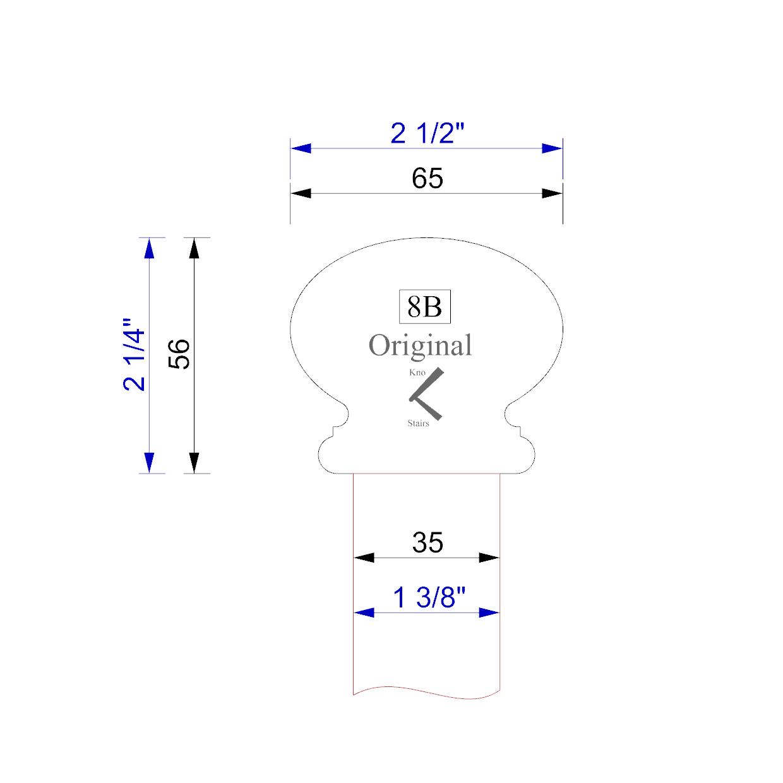 handrail profile 8B 35