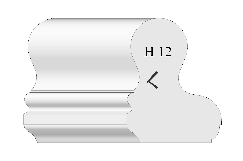 Handrail profile 12 shaded