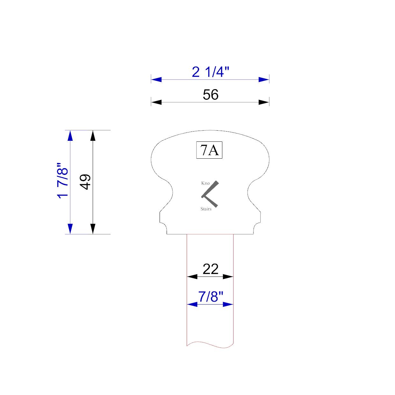 handrail profile 7A 22