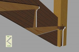 Closed string newel post together.
