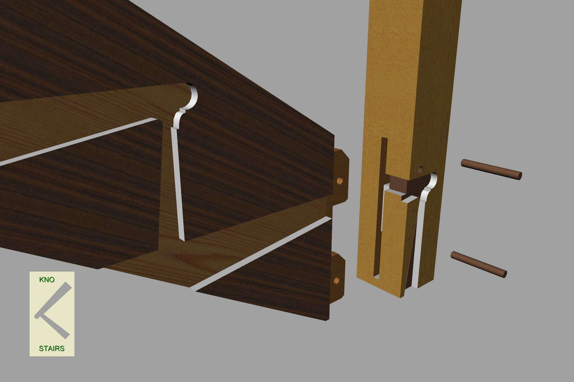losed string and newel post