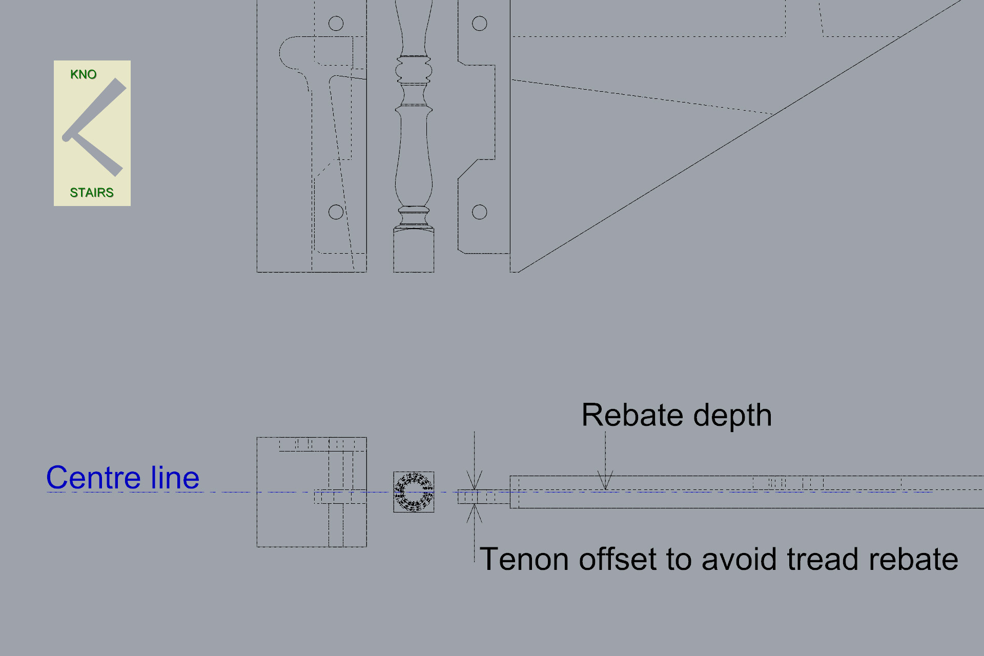 Newel closed string spindle align.