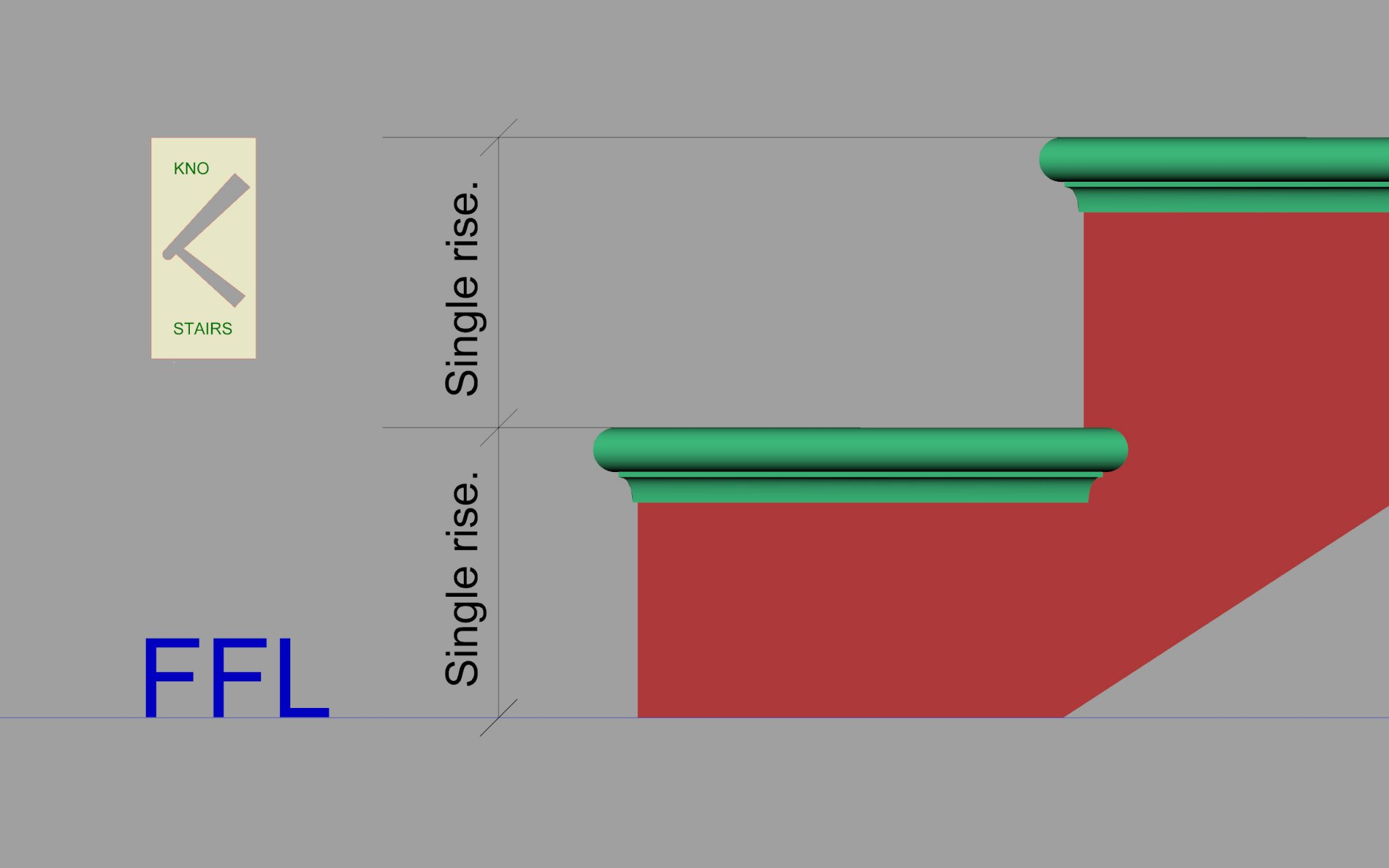 Stair single rise. how to measure a single rise in a staircase.