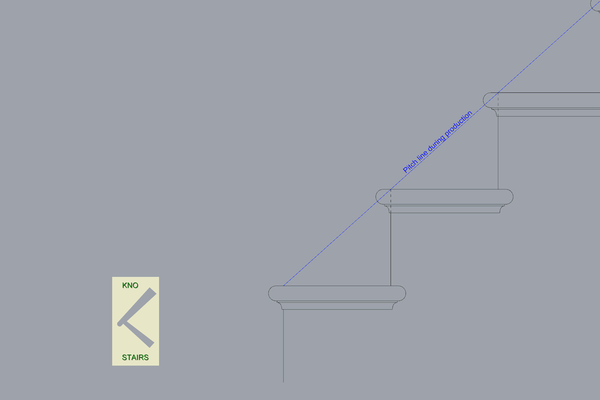 how to draw the Pitch line while makeing stairs.