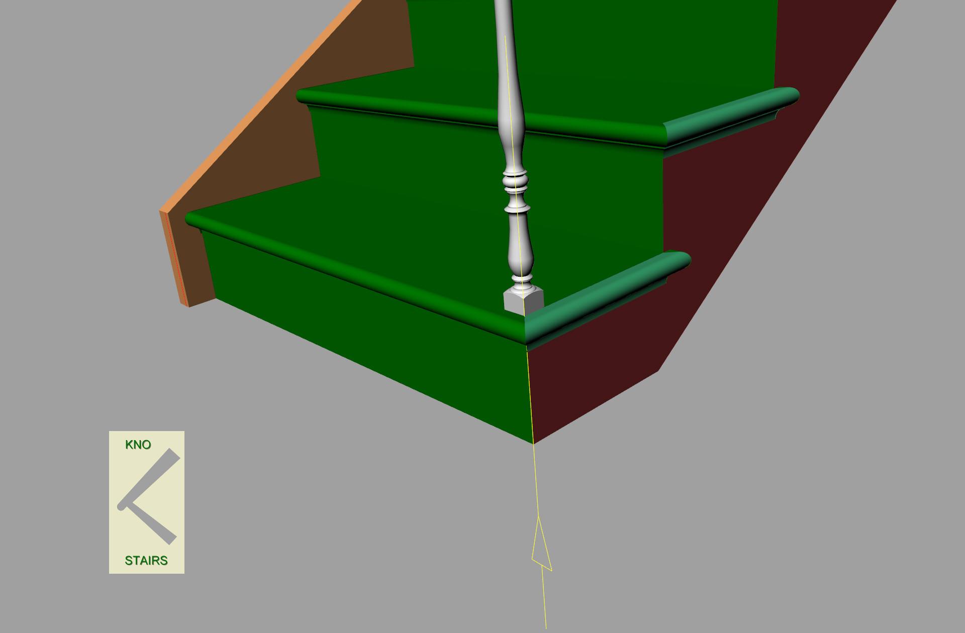 Cut string, spindle front corner align.