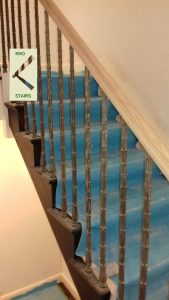 Balusters on cut string stairs