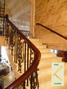 Balustrade with Mahogony handrail. staircase handrail glossary