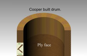 Cooper built drum. staircase glossary