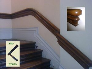 Dado handrail.