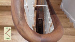 Handrail ties.