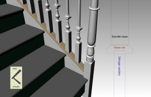 Stringer capping or base rail Stair glossary