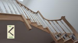 handrail Gooseneck or Swean's neck, handrail terms.
