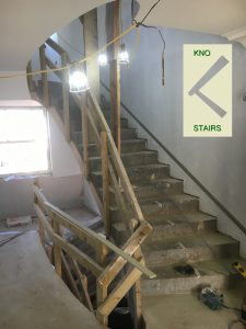 Precast concrete stairs, to have treads and risers.