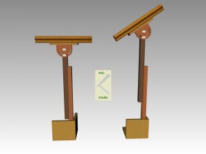 Handrail stands used for fitting handrail.
