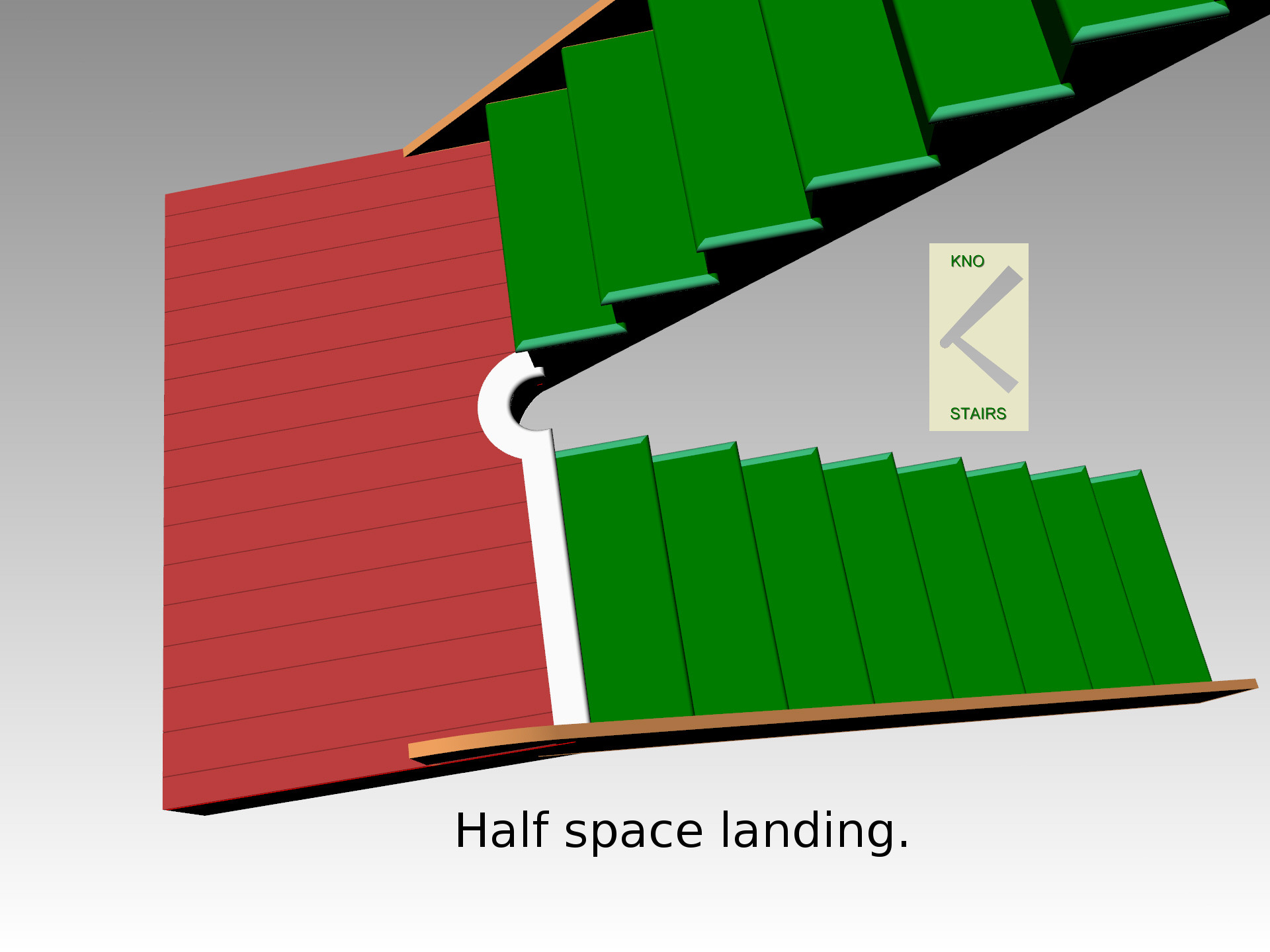 Half space landing. used to turn 180º in the flight.