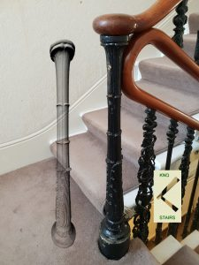 Cast Iron Newel Post.