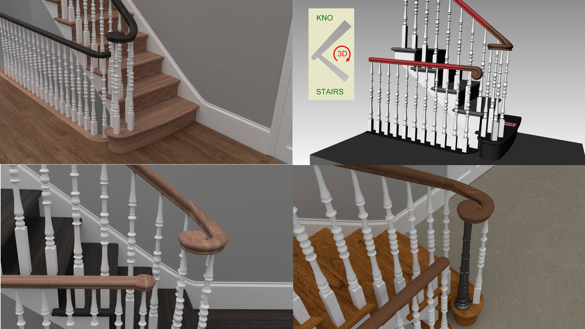 handrail feature separation