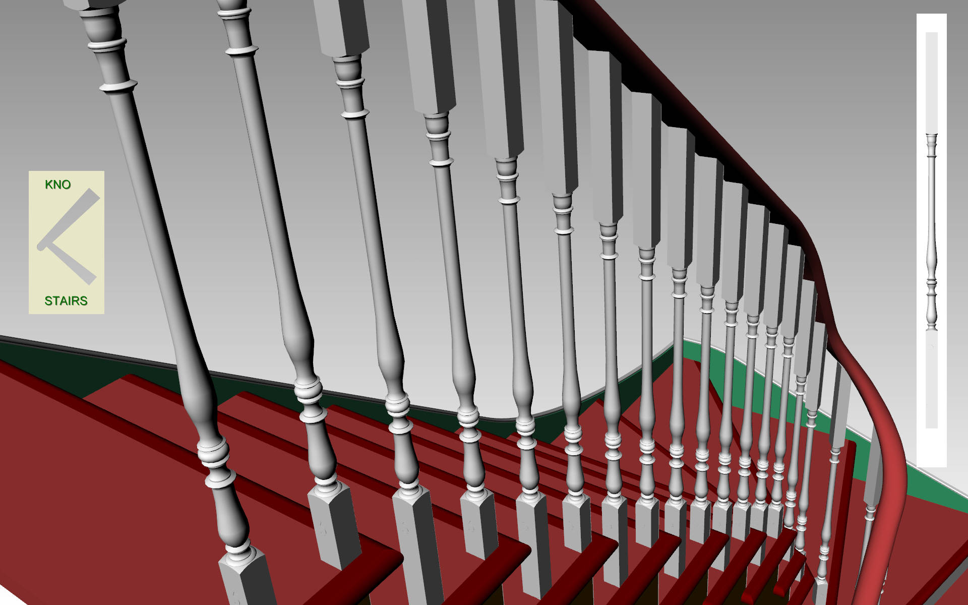 Choose the handrail support.
