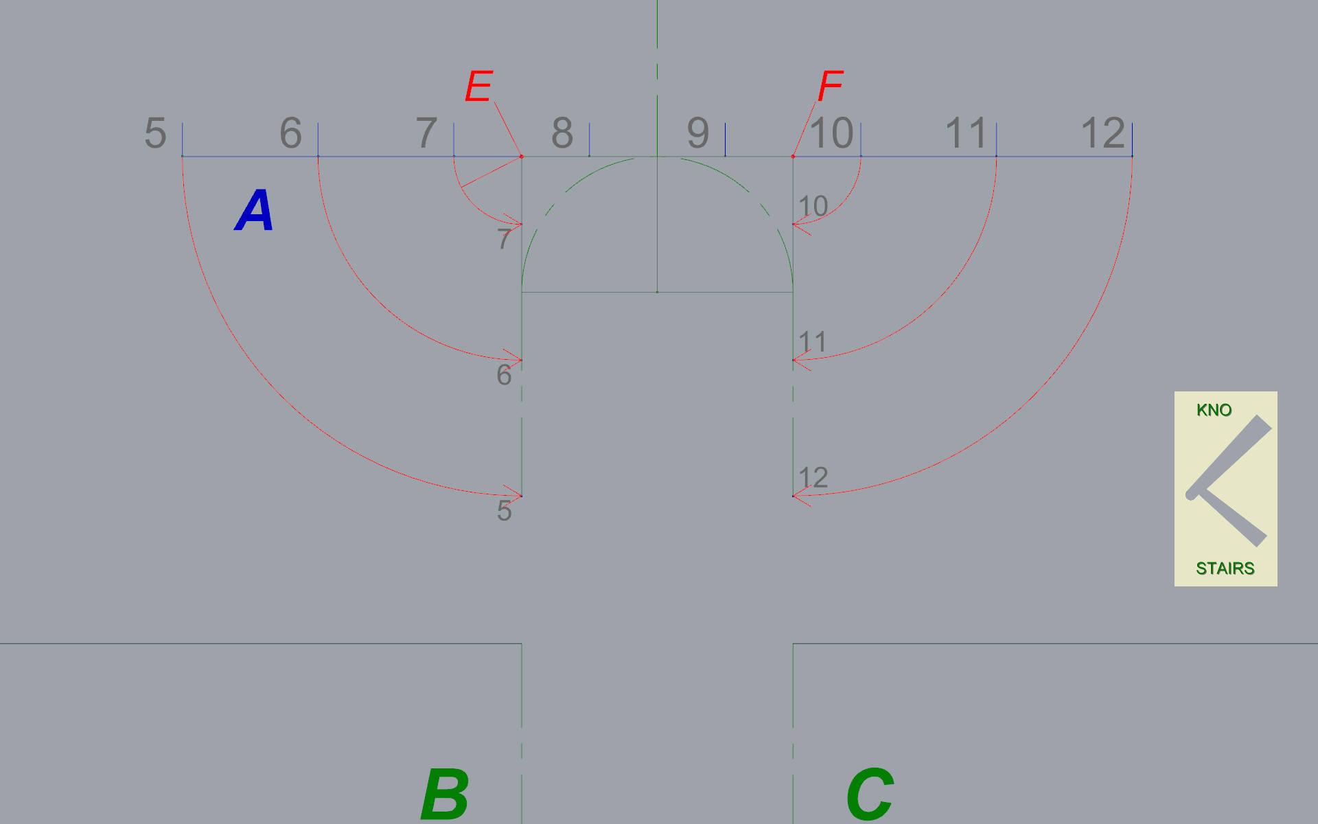 Describe riser position arcs.