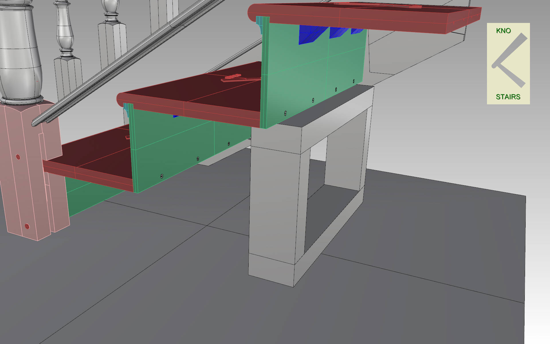 Box frame support.