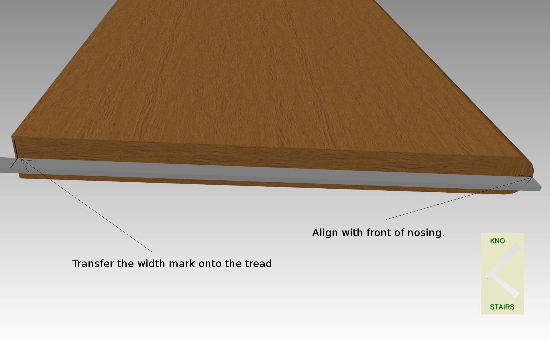 Mark tread width.