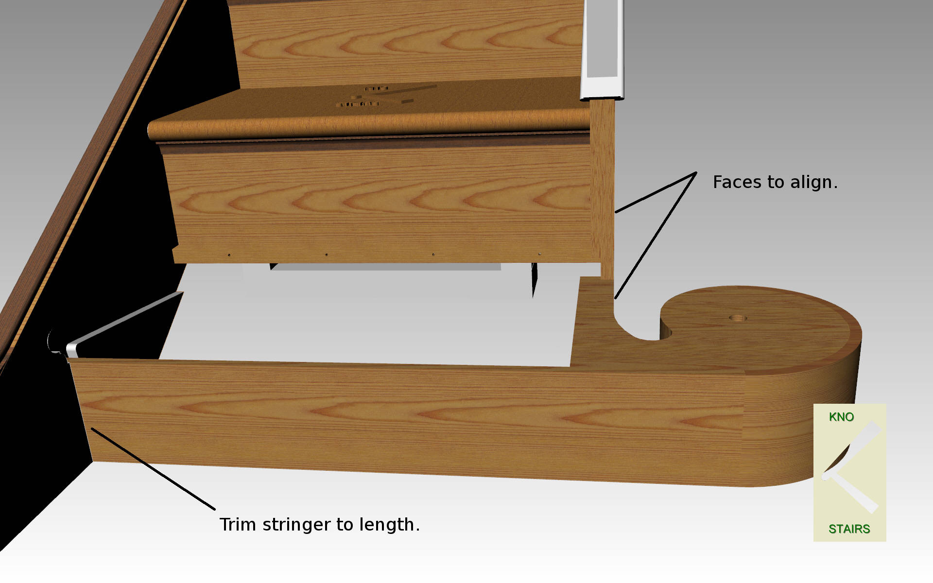 Trim riser to length.