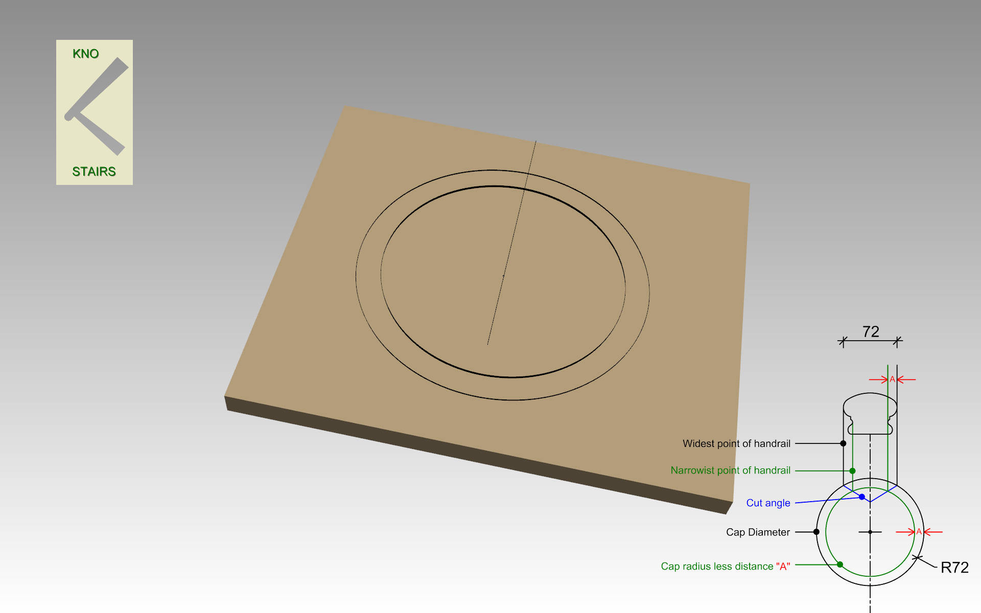 Draw inner diameter.