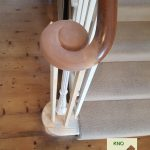 Restored curtail tread with cast newel and Monkey tail.